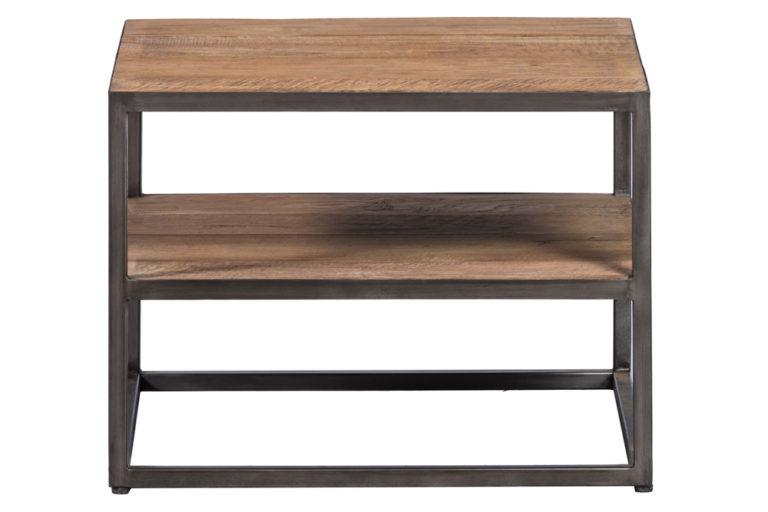 Bijzettafel in teak met onderstel in ijzer - Tafel - Landelijke meubels en verlichting - Sarah Mo