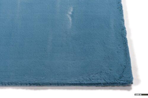 Fay 33 - zacht hoogpolig vloerkleed in azuurblauw- - Fay Black - zacht hoogpolig vloerkleed in zwart